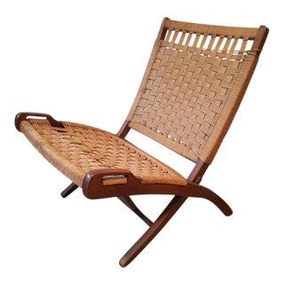 Hans Wegner Style Mid-Century Rope Chair