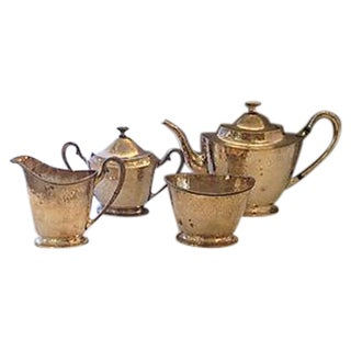 English Hammered Silverplate Tea Service - S/4