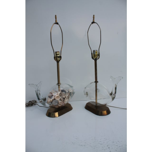 Blencko Art Glass Fish Table Lamps - A Pair - Image 8 of 11