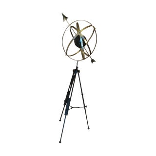 Decorative Tall Metal Floor Compass-Globe