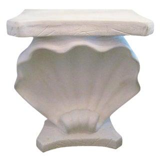 Shell Motif Faux Stone Console