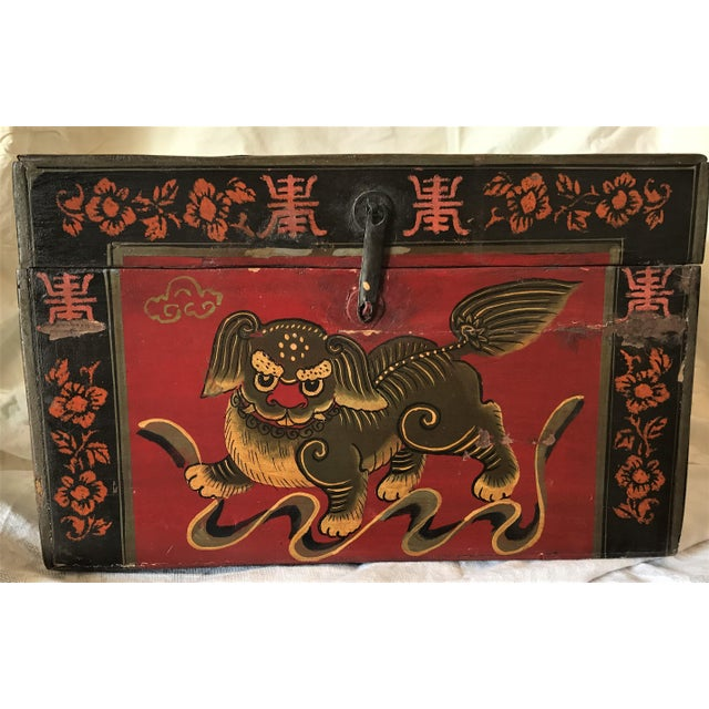 Qing Dynasty Hand Painted Chinese Chest - Image 2 of 6