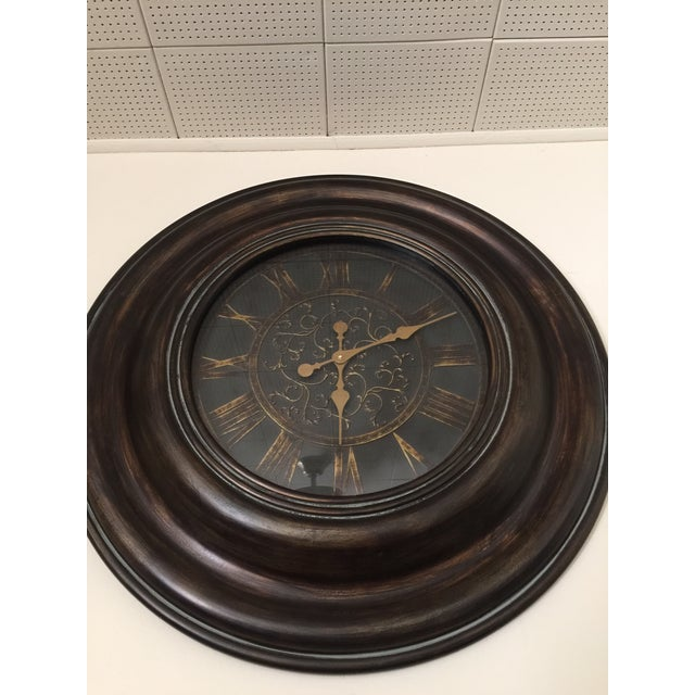 Bronze Finish Traditional Wooden Clock - Image 5 of 5