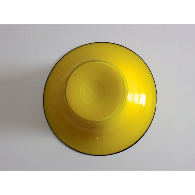1920's Yellow Glass Bowl - Image 3 of 4