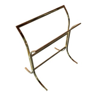 Vintage 1970s Brass Towel Rack