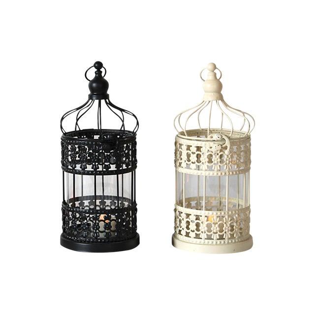 Metal Cage Lanterns - Set of 2 - Image 1 of 5