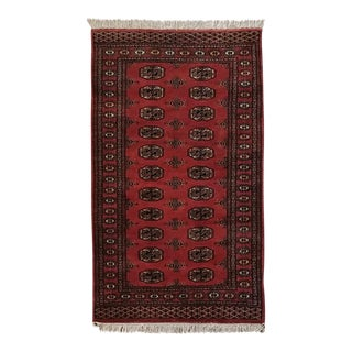 Vintage Hand Woven Persian Rug - 3′ × 5′7″