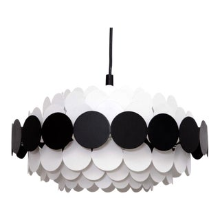 Doria Pendant Light in Black and White