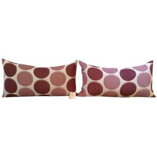 Polka Dot Feather Pillows in Blush - A Pair