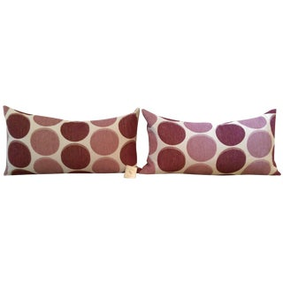 Polka Dot Feather Pillows in Blush - A Pair