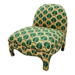 Mid-Century Patterned Boudoir Chair
