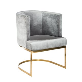 Hazel Gold Chrome Dining and Accent Chair