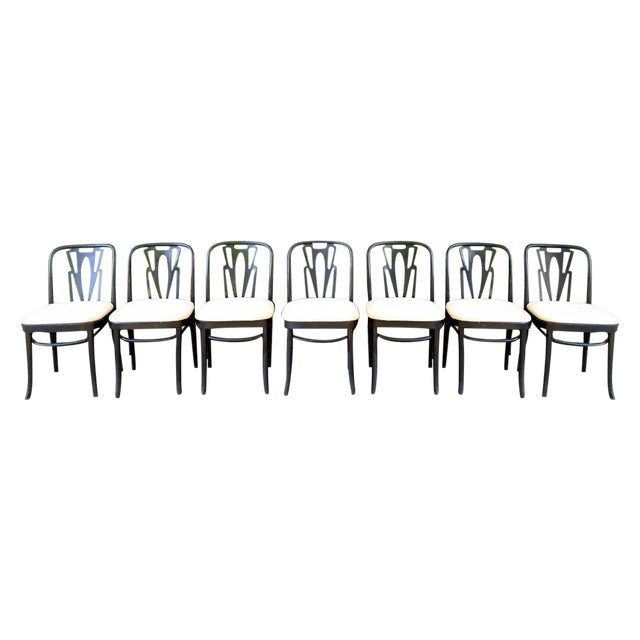 Vintage Cafe Dining Chairs - Set of 7 - Image 1 of 9