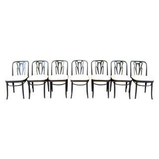 Vintage Cafe Dining Chairs - Set of 7