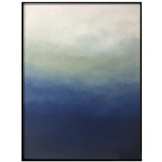 "Abstract Blue Ombré Original Painting - 40"" x 52"""