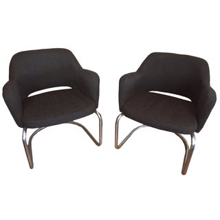 Cantilevered Jansko Chairs, Saarinen Style - Pair