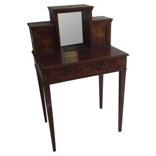 Antique Inlaid Wood Writing Desk