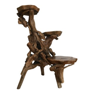 Teak Root Burl There Tiered Natural Table