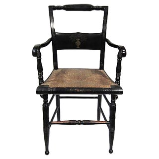 Tole Painted Hitchcock-Style Accent Chair