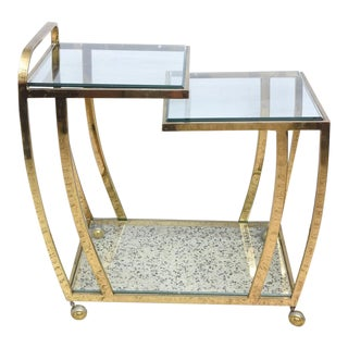 Brass Bar Cart, 1970s, USA