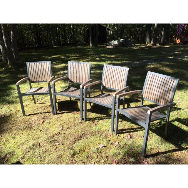 Danish Outdoor Teak Dining Set - S/5 - Image 5 of 9