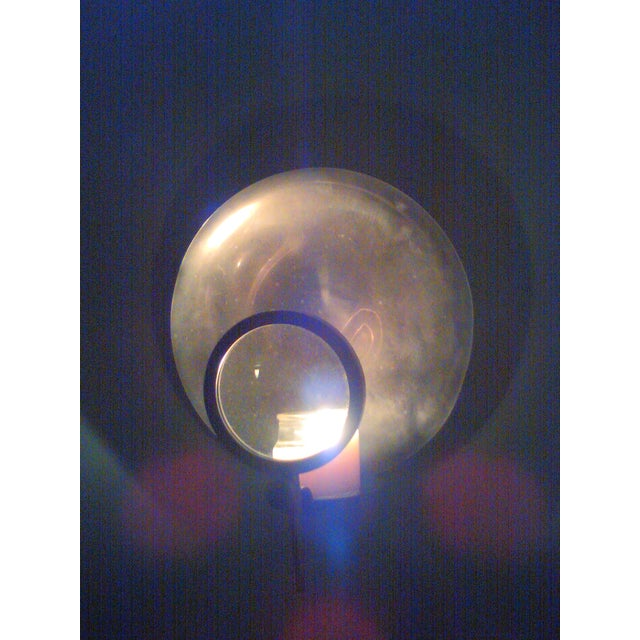 Image of Vintage Candle Wick Sconce with Magnifying Glass