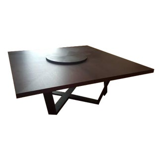 B & B Italia Black Oak Dining Table