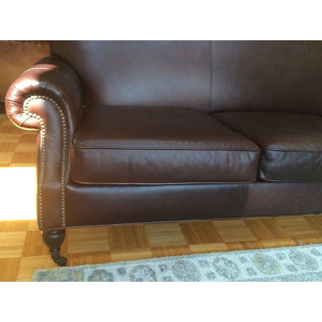Pottery Barn Brooklyn Leather Sofa - Image 7 of 7