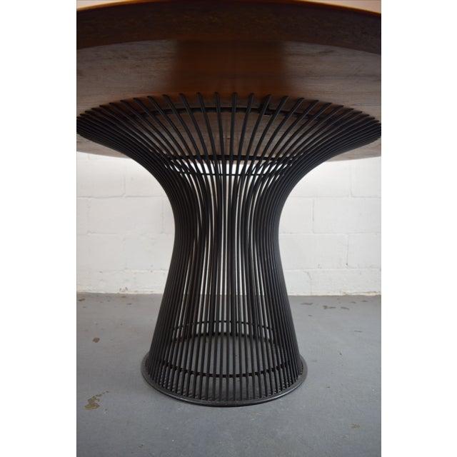 Warren Platner for Knoll Bronze and Teak Table - Image 7 of 8