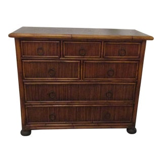 Baker Milling Road Bamboo & Leather Chest of Drawers
