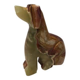 Vintage Marble Dog Figurine