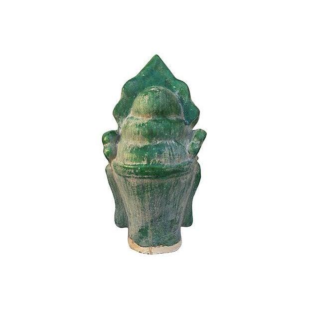 Image of Majolica Buddha Head