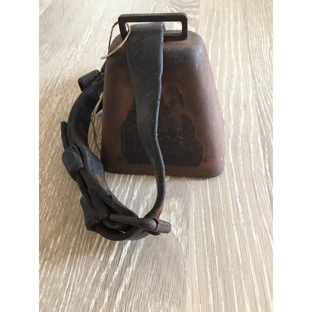 Antique Cow Bell with Leather Strap - Image 2 of 3