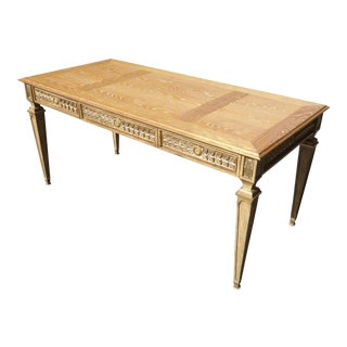 French Provincial Carved Writing Desk