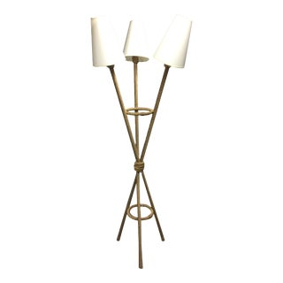 Tripod Rope Triple Shade Floor Lamps