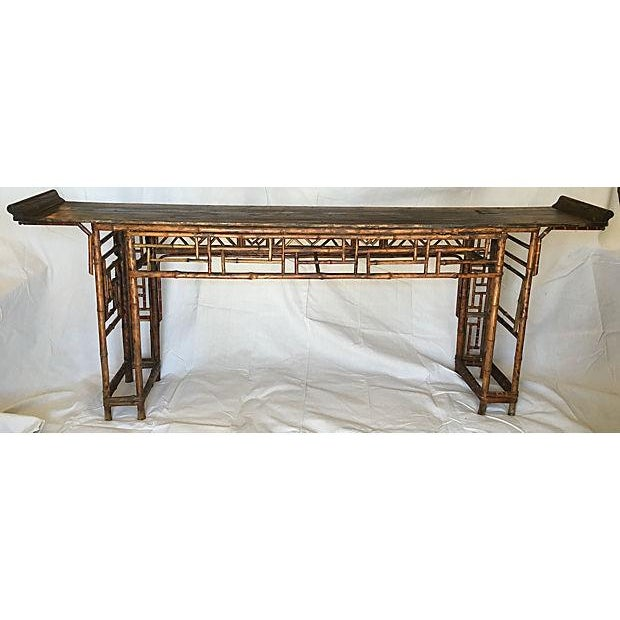Early 19th Century Chinese Bamboo Altar Table - Image 7 of 7
