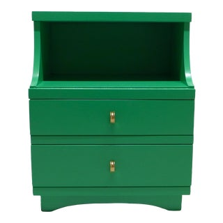 Mid-Century Kelly Green Nightstand
