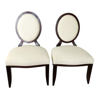 Baker Barbara Barry Oval X Back Chairs - A Pair
