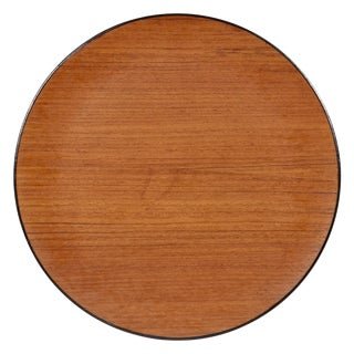 1960s Teak Wood Round Serving Tray