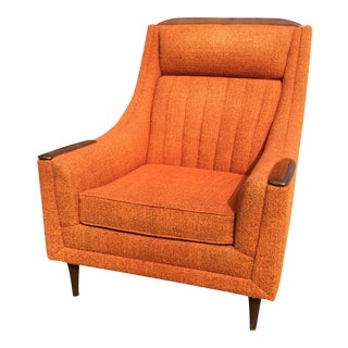 Mid-Century Modern Orange Lounge Club Chair