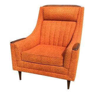 Mid-Century Modern Orange Lounge Club Chair
