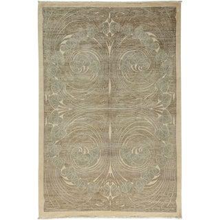 "Shalimar, Hand Knotted Art Nouveau Area Rug - 6' 3"" X 9'"
