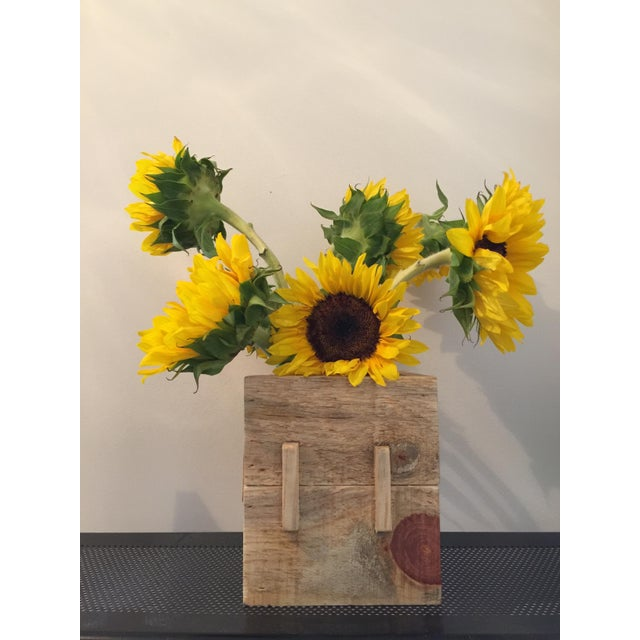 Image of Handmade Wooden Reclaimed Pallet Vase