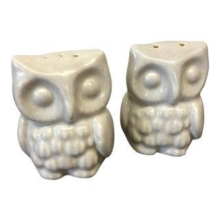 Mid-Century Owl Salt & Pepper Shakers - A Pair