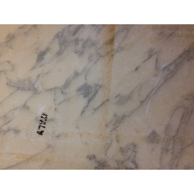 Fuggiti Studios Italian Carrara Marble & Gold Gilt Coffee Table - Image 11 of 11