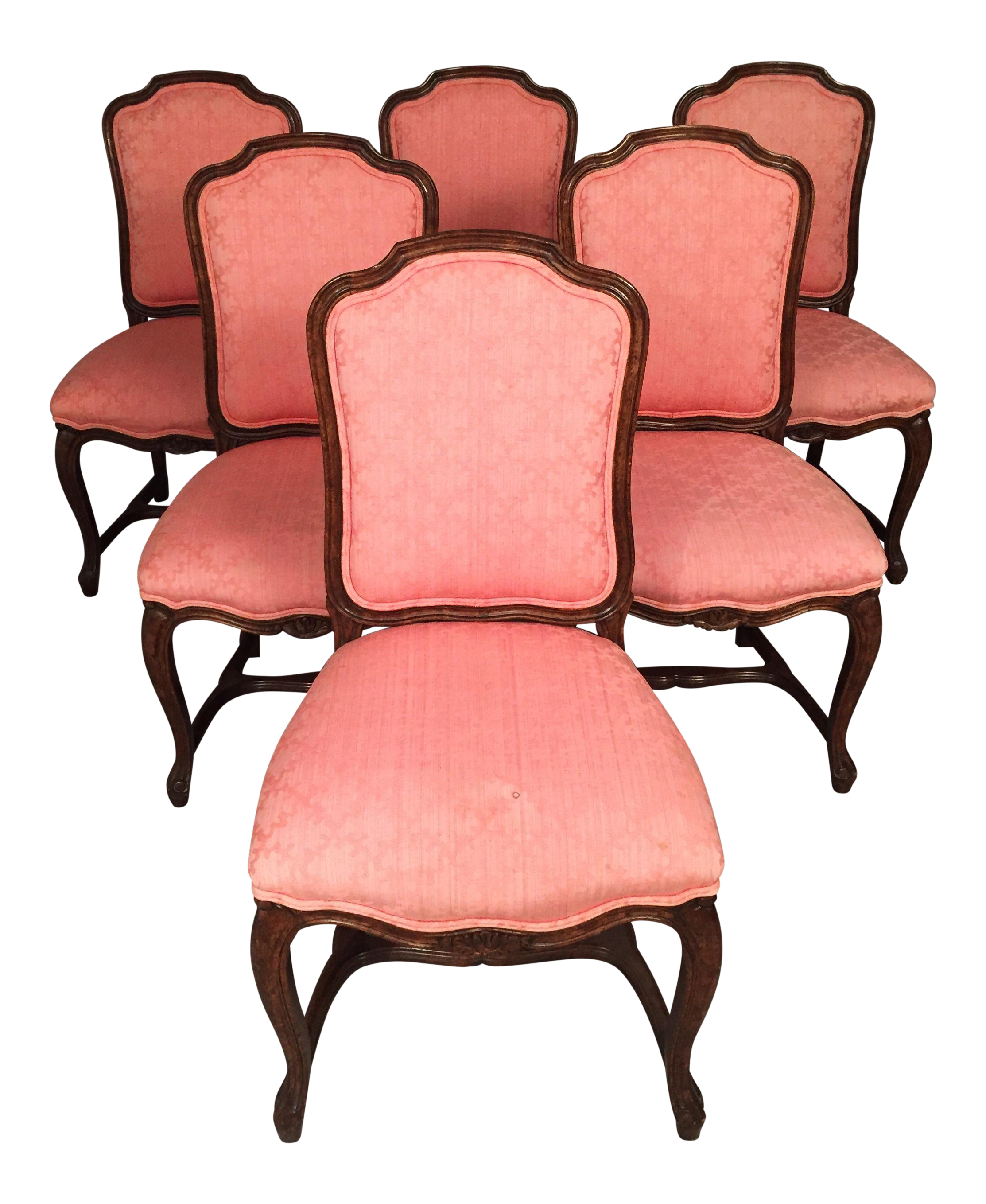 Antique Rococo Armless Chairs   Set Of 6