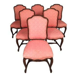 Antique Rococo Armless Chairs - Set of 6