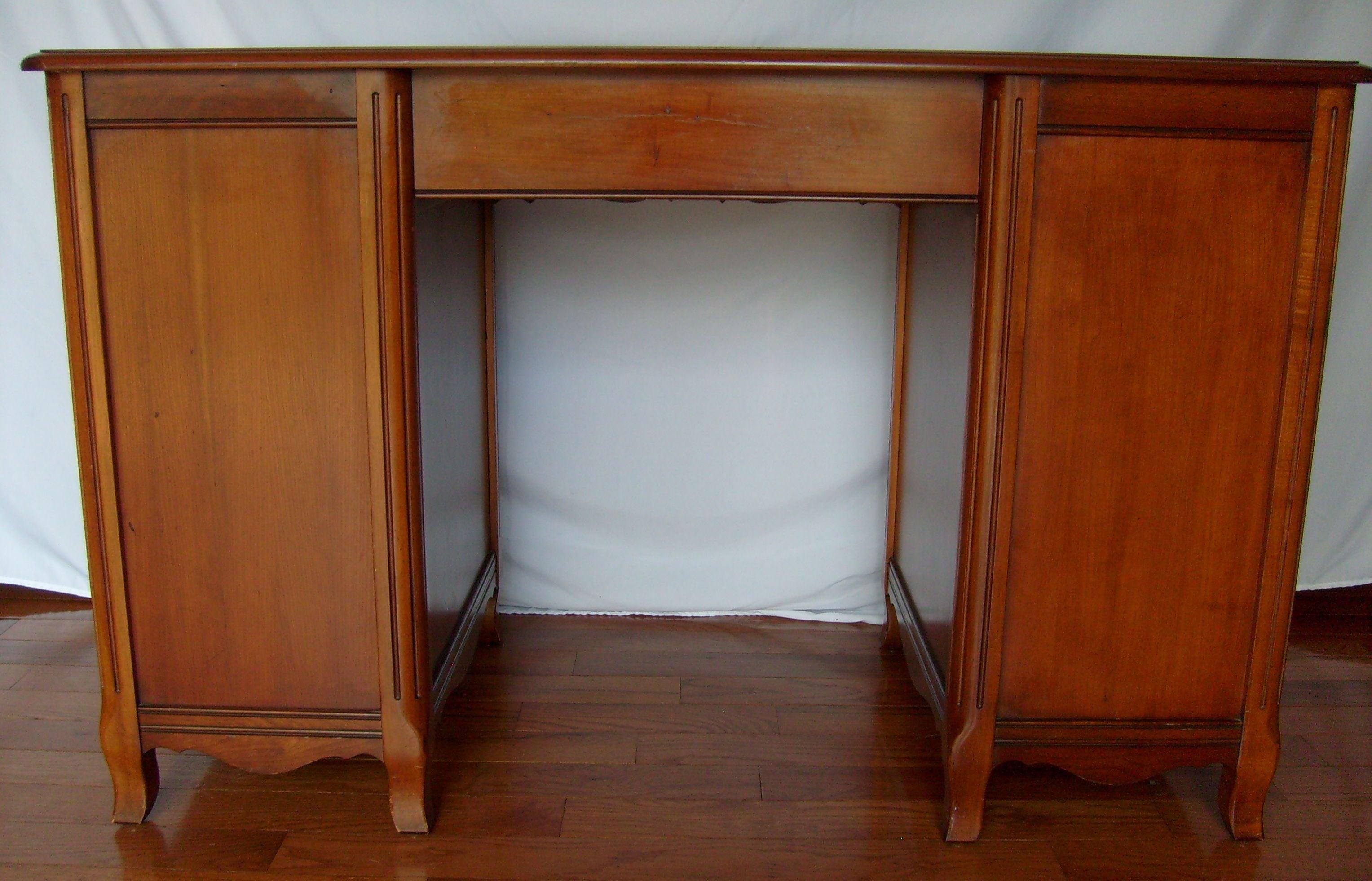 Vintage Cherry Kneehole Desk By Sligh Lowry Chairish