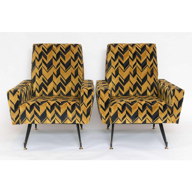Original Pair of Lounge Chairs by Osvaldo Borsani - Image 2 of 6