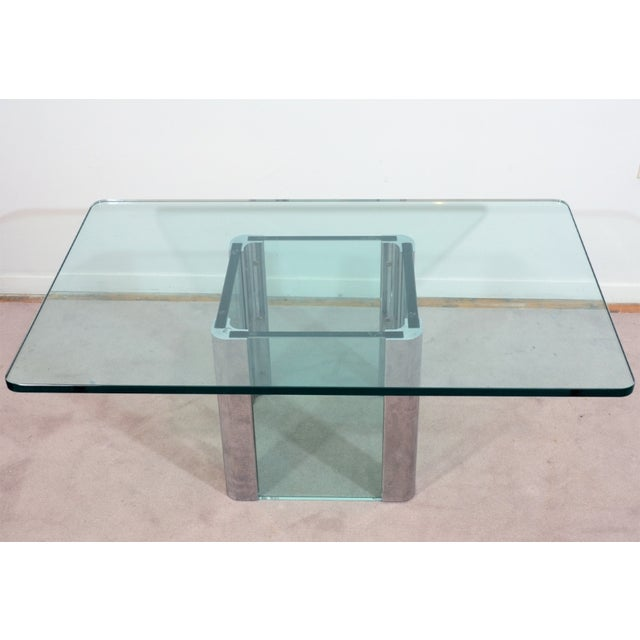 Image of Mid-Century Glass & Chrome Coffee/Cocktail Table